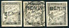BENIN PORTO 1894 Yvert TT 1-3 * oder gestempelt (S3704