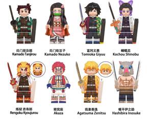 SET 8 Demon Slayer Kimetsu no Yaiba Minifigure Tanjiro Kamado DC Comics lego MOC