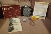 1940's VINTAGE REVERE EIGHT DOUBLE 8 MODEL 88 MOVIE CAMERA & CURV-A-MATC SPLICER