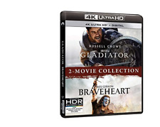New Gladiator Braveheart 2-Movie Set Collection 4K Ultra Hd Blu-Ray Russell Crow