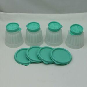 Tupperware Small Mini Jello Mold -Set of 4