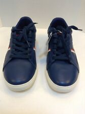 Lacoste Europa FAS Dark Blue Dark Red Leather Men's 13 US 12 UK 47 EUR NIB New