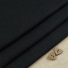 Robert Kaufman Essex Jet Black Linen Blend Fabric / dressmaking skirt quilting