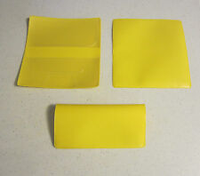 1 NEW YELLOW VINYL CHECKBOOK COVER WITH DUPLICATE FLAP CHECK BOOK COVERS