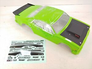 NEW: TEAM ASSOCIATED DR10 REAKT GREEN DRAG RACE CAR BODY 1/10 AE w/ Decals