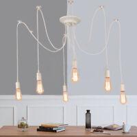 Industrial Retro Chandelier Vintage Spider Ceiling Light Edison E27 Lamp Bulb
