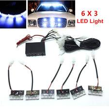 Car SUV 18- LED Strobe Emergency Flashing Police Warning Grill Light Lamps Bulbs