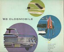 Oldsmobile 1963 Stati Uniti Mercato PIEGA SALES BROCHURE Jetfire F-85 STARFIRE 88 98