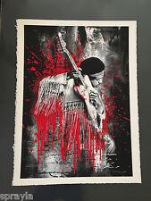 Mr. Brainwash -  Jimi Hendrix -Rare RED Version - Signed & Numbered #/70
