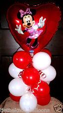 Palloncino Tavolo Display Festa Di Compleanno Minnie Mouse Cuore Aria Riempire WR