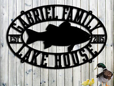 Lake House Sign - Personalized Custom Metal Lake House Sign - Steel Sign - Large