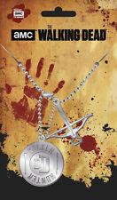 The Walking Dead pendentif dog tag arbalete Daryl the Walking dead pendant