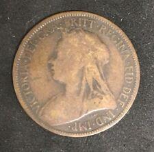 1897- Half Penny (England) RARE OLD COIN Coin Fine Condition!