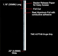 Sensing Foil Tabs Pre-Cut Real Aluminum Foil 24 Pack for Open Reel Tape