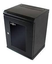 "12U 10 ""Nero SOHO Comms Cabinet di rete dati Rack Home Office Home LAN SWITCH"