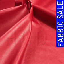 BIRMINGHAM FAUX RED LEATHER FABRIC LEATHERETTE PVC MATERIAL CLOTHING UPHOLSTERY