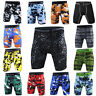 Men's Compression Shorts Gym Workout Short Bottoms Camo Running Slim fit Tights
