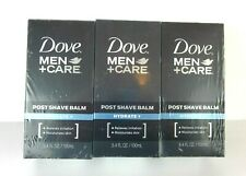 3 Pack Dove Men+Care Post Shave Balm Hydrate Plus 3.4 oz Alcohol Free
