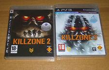 2 jeux playstation 3 PS3 - Killzone 2 et 3 (Action FPS)