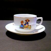 Vintage Bavaria Bareuther Children's Porcelain China  Cup and Saucer Set
