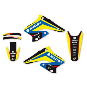 Kit adesivi grafiche Suzuki Rmz 250 2004 2005 2006 set in Crystall Blackbird