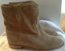 Isabel Marant 39.5/US 9.5 Camel Tan Suede CRISI Hidden Wedge Boots # 3197