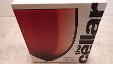 The Cellar Drink Set of 3 15 oz. Red Glass Stemware NIB