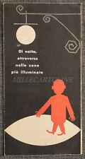 MINISTERO LAVORI PUBBLICI - Depliant Educazione Stradale, Ass. VIA SICURA 1959