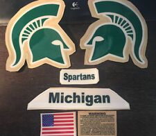 Michigan State Spartans FULL SIZE FOOTBALL HELMET DECALS