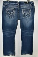Vigoss Jeans Boot Cut Bootcut Fit Jeans Size 15 Stretch Meas. 36x29 Thick Stitch