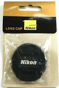 52mm Center-Pinch Snap-On Front Lens Cap For Nikon