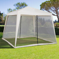 Outsunny 10x10ft Outdoor Party Tent Gazebo Canopy Beige