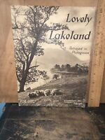 Antique Book, Lovely Lakeland Portrayed In Photogravure.