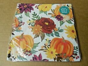 The PIONEER WOMAN 2-Ply Paper Napkins BURGUNDY FLORAL 20 Ct