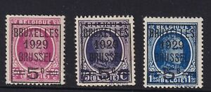 BELGIUM 1929 Overprints set LHM