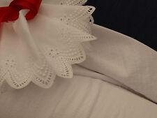 White Textured Cotton Slub Fabric- Smocking, Clothing -140 cm x per half metre