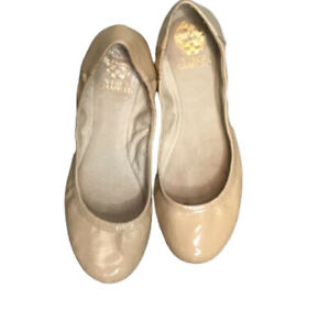 Vince Camuto Nude Patent Leather Ballet Flat Shoes Size 8 New - No Box