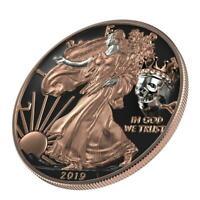 USA 2019 $1 Liberty Silver Eagle - KING'S SKULL 1 Oz Silver Coin 500 pcs only