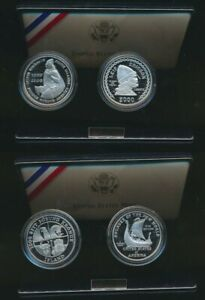 United States & Iceland: 2000 Leif Ericson Millennium Silver Proof 2 Coin Set