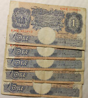 ENGLISH ONE POUND BANK NOTES SELECT YOUR NOTE AND CASHIER