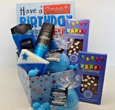 Mens Hamper Dad Boyfriend Husband Happy Birthday Lynx Blue Gift Box