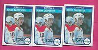 3 X 1982-83 OPC # 361 CAPITALS BOBBY CARPENTER ROOKIE CARD (INV# C2440)
