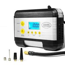 KC-K Tire Inflator Air Compressor for Cars with Emergency Light & Battery Tester