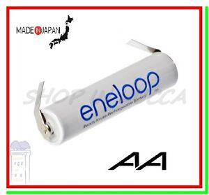 "batteria ricaricabile 1,2v a saldare Eneloop pila stilo AA 1900mAh lamelle ""U"""