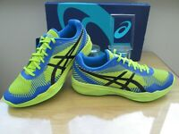ASICS VOLLEY ELITE FF MENS  BL/GR MULTI SPORT COURT TRAINERS SIZE UK 9.5 EU 44.5