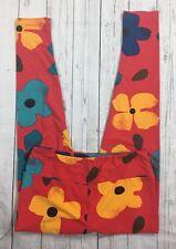 LuLaRoe Tall & Curvy Red Floral Legging