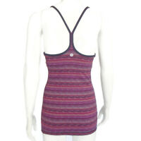 LULULEMON Electric Purple Stripe Tank Top Racerback Womens size  - 6921