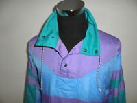 vintage Rodeo 80s Nylon Jacke oldschool Schlupfjacke blouson glanz jacket S (M)
