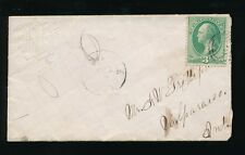 USA FANCY ENVELOPE EMBOSSED W and GRIDLINES 1870s