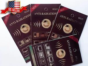 wholesale 5x Anti Radiation Patch Sticker 99% Radiation Protection Gold-24K